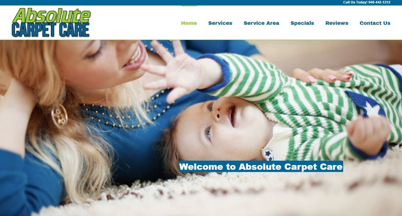 Website Design for Carpet Cleaners