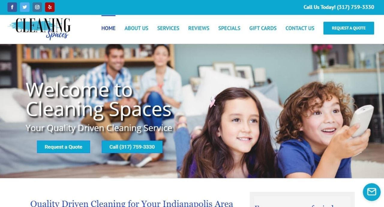 Wordpress Website Design for House Cleaners