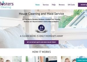 Wordpress Website Design for House Cleaning Businesses