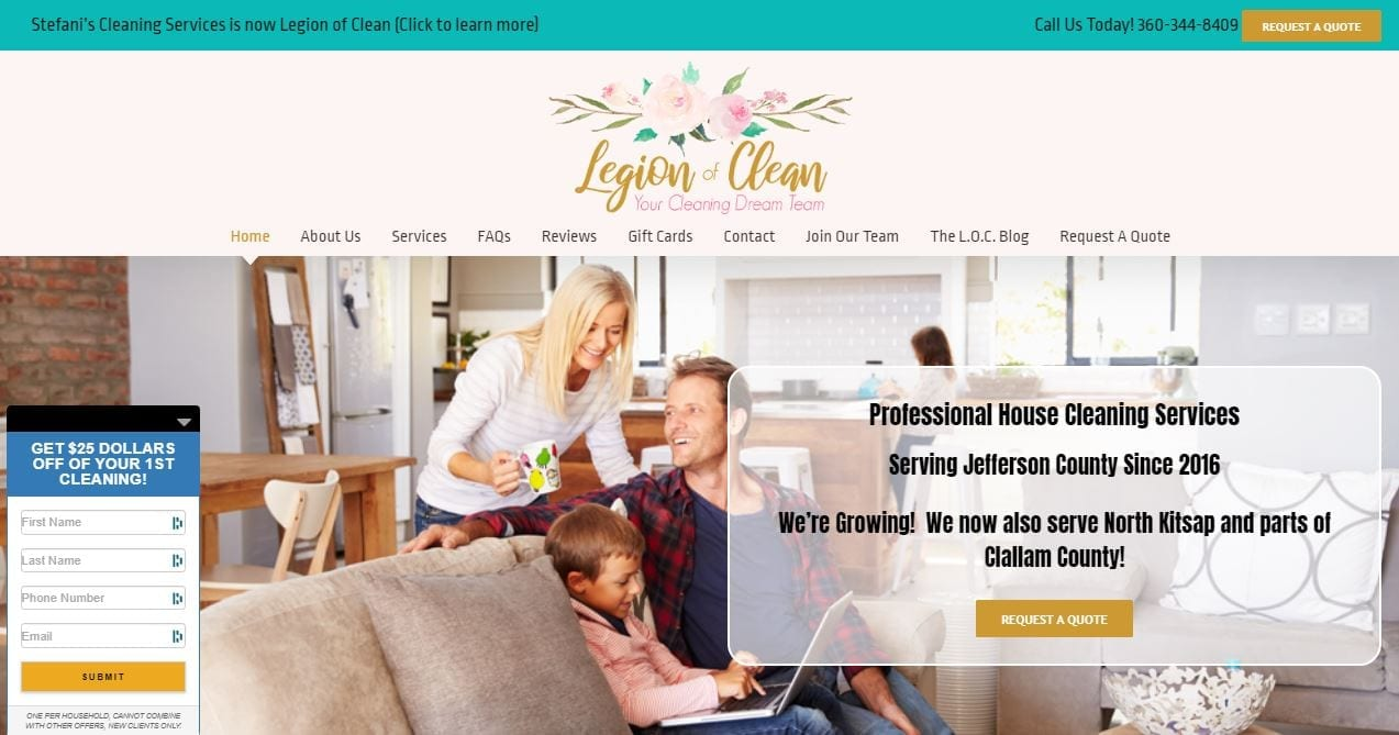 Website Design for House Cleaning Services