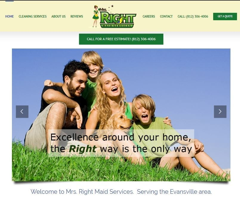 Wordpress Website Designs for Maid Services