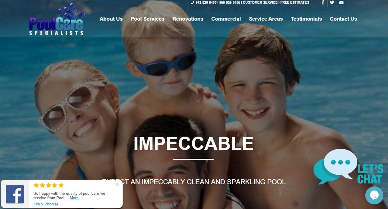 Website Design for Pool Cleaners