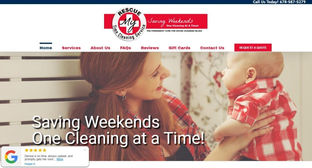 Website Design for House Cleaners