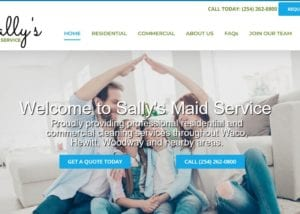 Website Design for Sally's Maid Service in Waco, Texas