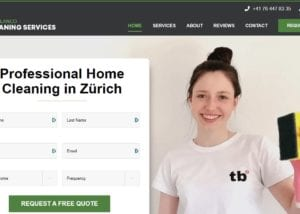 Website design for house cleaners in Zürich