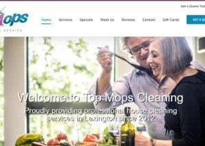 Website Design for Top Mops Cleaning Service